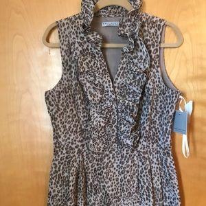 Leopard print Marc New York dress w/ ruffle.  NWT!
